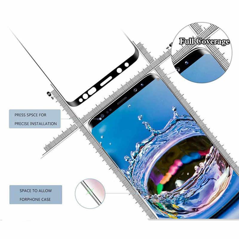 20D フルカバレッジスクリーンプロテクター強化ガラス三星銀河注 10 プラス S10 S9 S8 プラス S7 エッジ注 9 注 8 ガラス