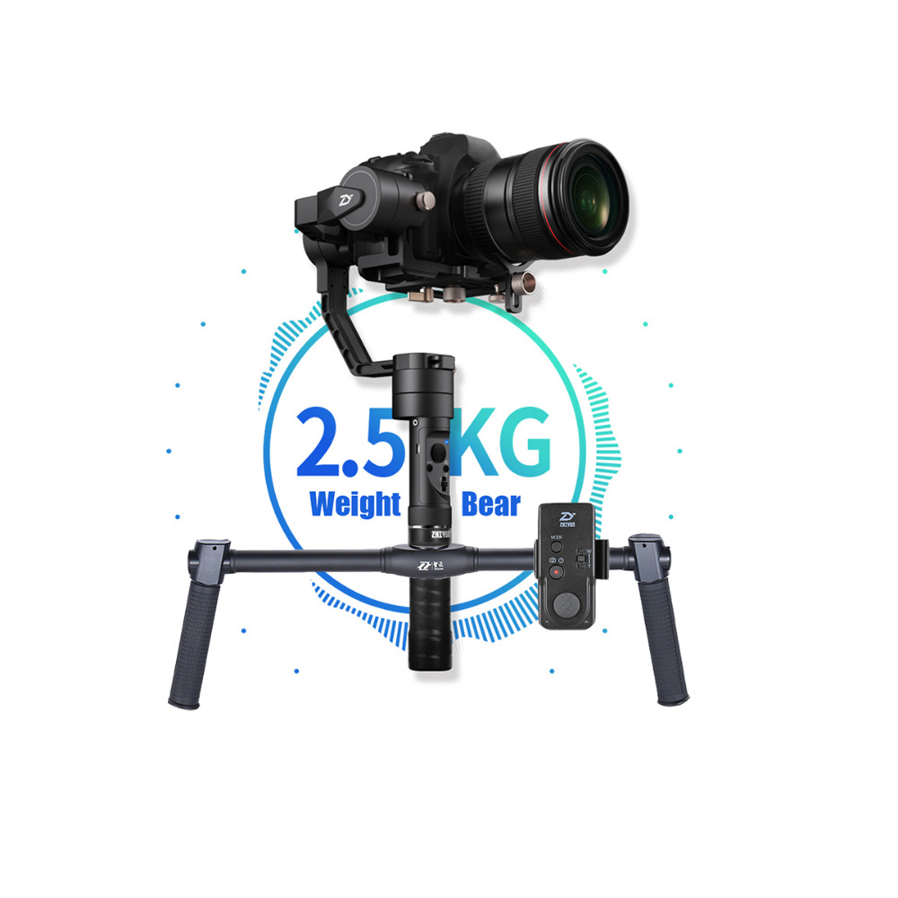 ZHIYUN Crane Plus+ DSLR Video Handheld 3-Axis Gimbal 2.5KG bear 3 axis camera gimbal steadicam for Nikon Canon