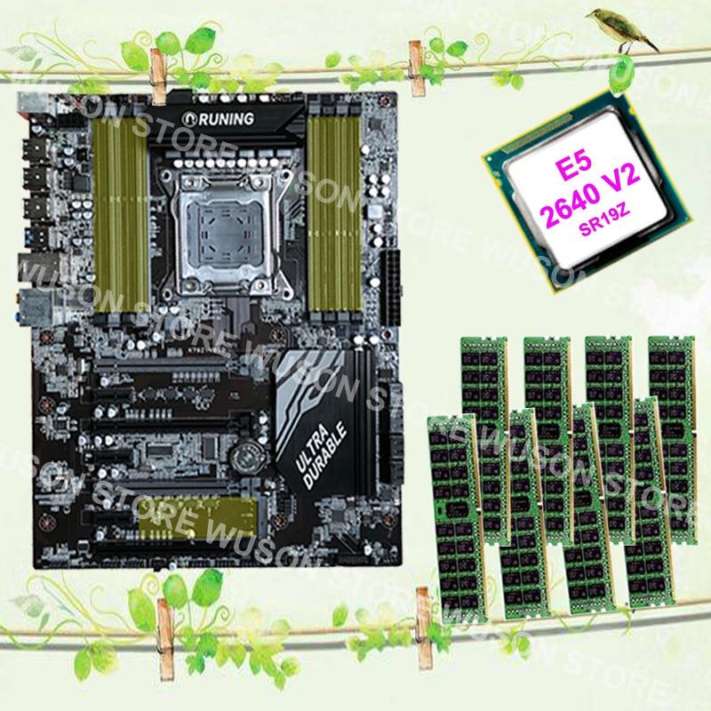 Runing Super X79 LGA2011 motherboard Xeon E5 2640 V2 SR19Z 2.0GHz RAM 128G(8*16G) 1600MHz DDR3 RECC max support 8*16G 1866MHz pc hardware supply runing x79 motherboard intel xeon e5 2620 srokw 2 0ghz ram 128g 8 16g ddr3 1600mhz reg ecc quality guarantee