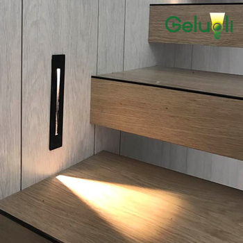 Exterior and Interior Led Stair Light, Aluminum Housing Embed Mounted Waterproof Wall Step Light Include Mounted Box