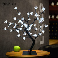 HUSUYUHU Plum Cherry Blossom Night Light Luminaria Lighting Lamp Table 45cm Height 48 LED Festival Party Christmas Decoration