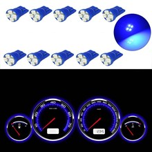 10Pcs/Set Blue T10 Car Dashboard Light W5W 194 2825 4 SMD LED Auto Instrument Panel Wedge Gauge Cluster Indicator Lamp Bulb(China)