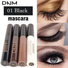 Profesional 4 Color impermeable colorido máscara ojos cosméticos pestañas extensión marrón blanco rizado fiesta maquillaje herramientas de máscara
