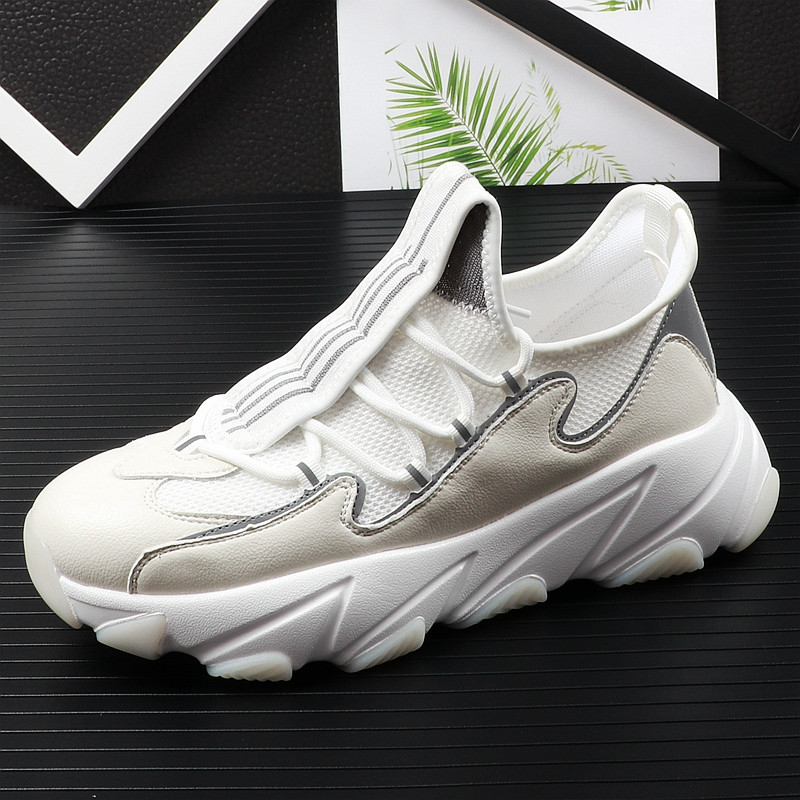 high quality men youth casual shoes thick Bottom mesh Breathable mixed color Platfrom Leisure Shoes For web celebrity 38-43 16