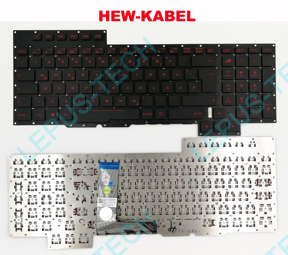 Keyboard for ASUS GX700 GX700V GX700VO German GR DE with backlight KeyboardKeyboard for ASUS GX700 GX700V GX700VO German GR DE with backlight Keyboard