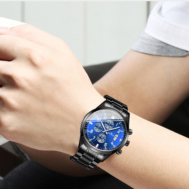 FNGEEN Watch Men LIGE Fashion Sport Quartz Clock Mens Top Brand Luxury Calendar Waterproof Watch Relogio Masculino Dorp Shipping in Quartz Watches from Watches