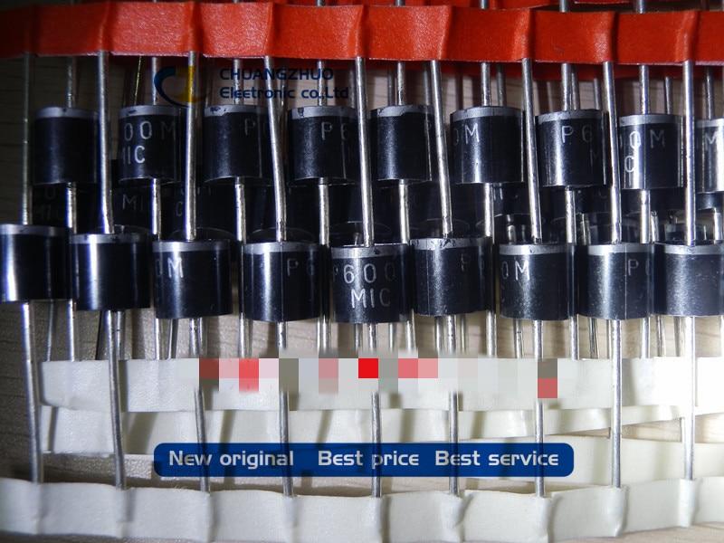 20pcs/lot New original P600M P600M-E3/54 DIODE GEN PURP 1KV 6A P600 original qlan