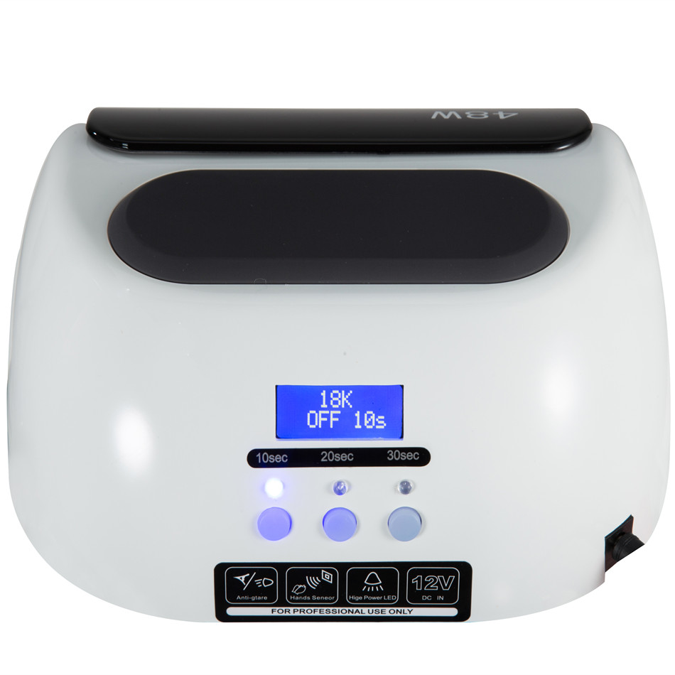 18K 48w nail dryer led lamp nail with LCD Screen nail Dryer Curing UV LED Gel nail art tools mdskl 48w led uv lamp nail dryer self clocking a minute of rapid drying golden electric nail art tools exemption from postage