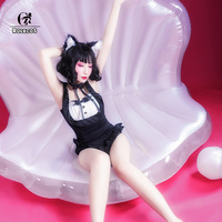 ROLECOS Cosplay Costumes Lolita Dress Cat Swimsuit Costumes Women Sweet Cute One piece Swimsuit Lolita Swimsuits Cat Tails