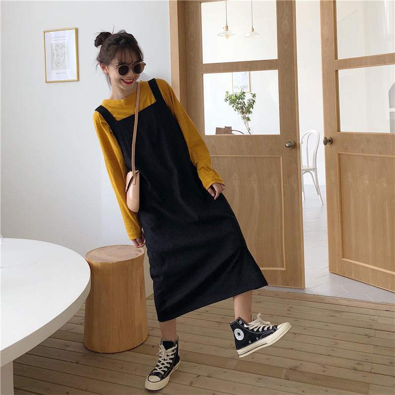 2019 Women's Dresses Japanese Ulzzang Kawaii Lady College Style Casual Loose Dress Female Cute Korean Harajuku Clothes For Women