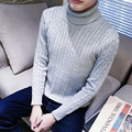 Sweater Man   Knitted Winter Warm Pullovers V-neck Long Sleeve turtleneck Standard Sweaters Male Jumper
