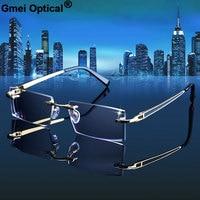 Gmei Optical 983 Phantom trimming titanium eyewear Rimless Diamond Cutting None Diopters Optical Eyeglasses for Men and Women