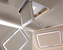 2* Chrome Accessories Interior Car Top Roof Make Up Mirror Cover For Mercedes Benz E Class W212 2010 2011 2012 2013 2014 2015