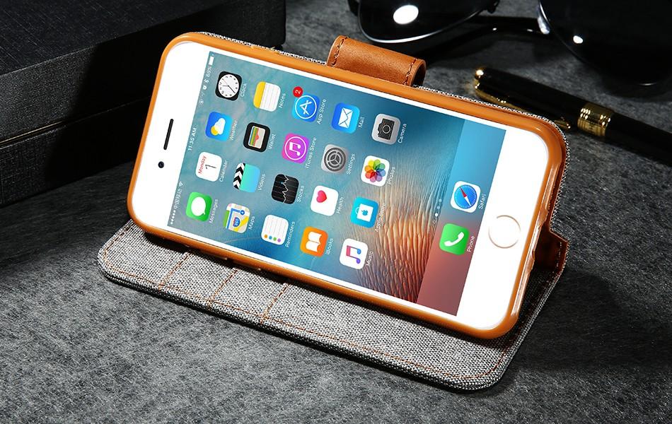Kisscase stań portfel przerzuć przypadki dla iphone 6 6s 7 5 5S mody hit kolor slot kart skóra pokrywa dla iphone 7 6 s plus z logo 18