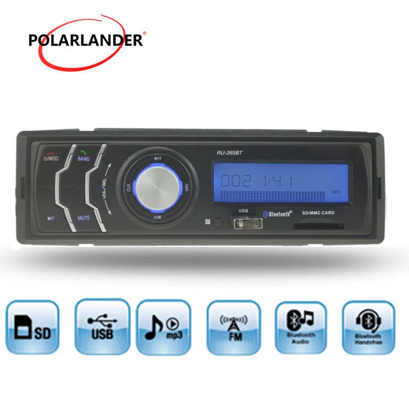 Hot New 1 din Car Radio MP3 Player Audio Auto Stereo FM Receiver In-Dash bluetooth USD/SD Card /AUX in hands-free call