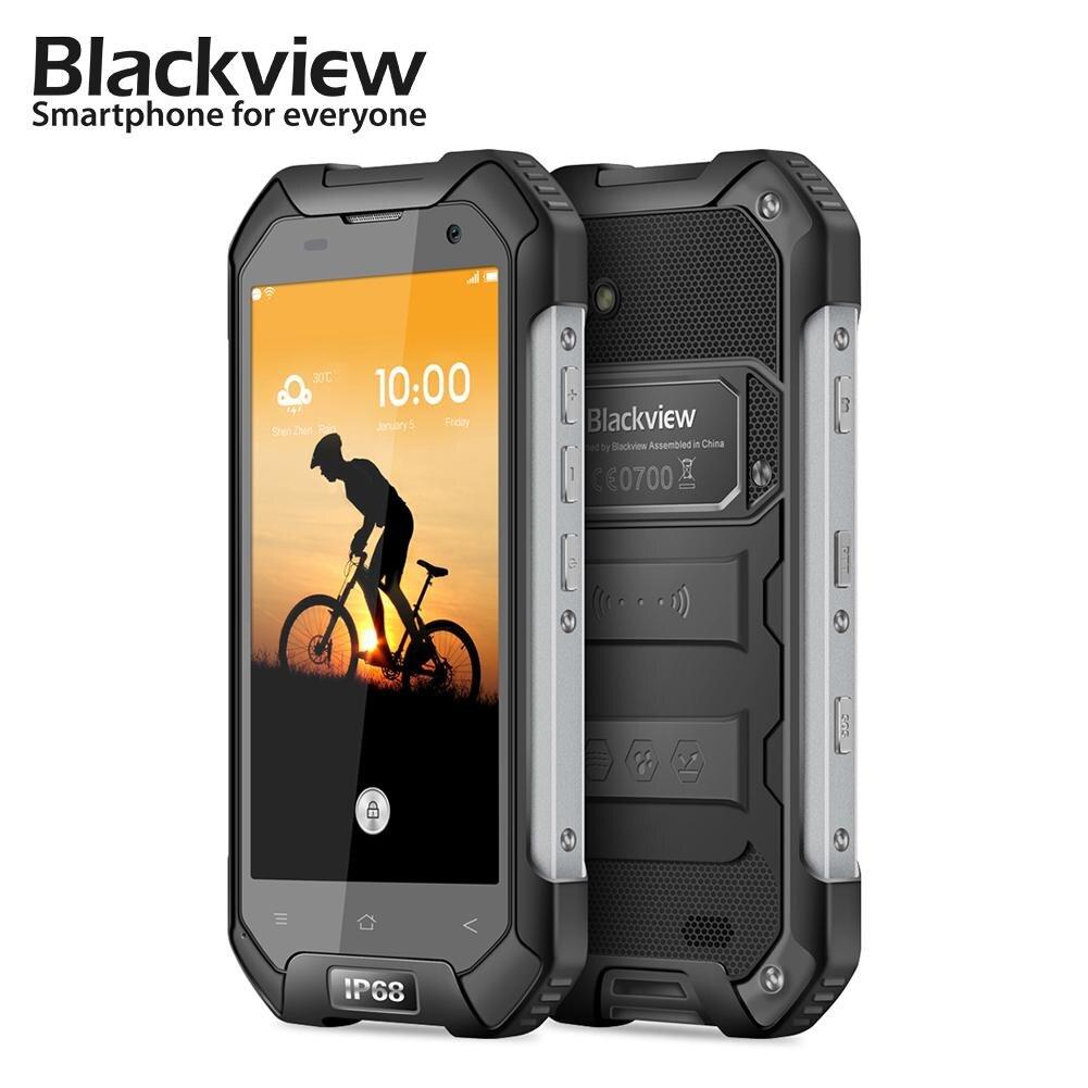 In Stock Original Blackview BV6000 Android 7.0 Mobile Phone MTK6755 Octa Core 3GB+32GB 13MP Glonass IP68 WaterProof Smartphone