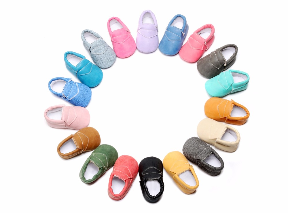 18Colors 6Size Infant Toddler Fashion PU Leather Newborn Baby Girl Boy First Walkers Crib Bebe Baby