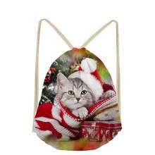 Noisydesigns/милый женский рюкзак с объемным рождественским