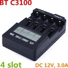 BT-C3100 V2.2 Зарядное устройство для 18650 литий-ионный AA AAA 16340 26650 14500 10440 18500 NiMH NiCd Перезаряжаемые Батарея BT-C3100