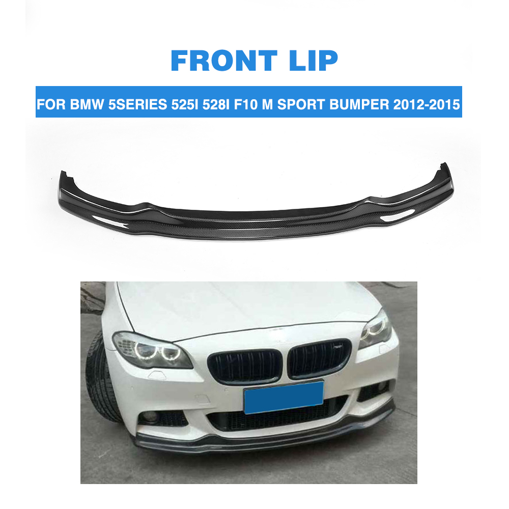 Carbon Fiber Auto front lip Spoiler Chin For BMW 5 Series F10 525i 528i M Tech M Sport Bumper Only 2012-2015