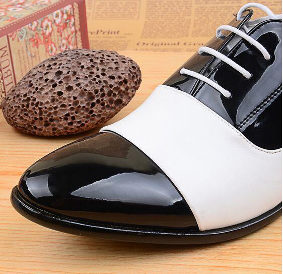b9f024b12cc 2015 del otoño del resorte zapatos moda hombre zapatos charol hombres  zapatos de vestir blanco negro de cuero suave de la boda zapatos Oxford  BJ3073 en ...