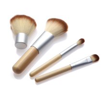 4PCS Bamboo Handle Makeup Brush Set Cosmetics Kit Powder Blush Eco Friendly Make up Brushes styling tools Face care 07-0047