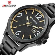 Longbo мужчины кварцевые часы полный нержавеющей стали часы наручные часы, спортивные часы для мужчин водонепроницаемые большой размер Платья 3003