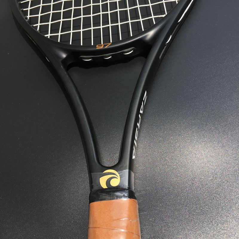 1 pc ZARSIA Custom taiwan 100% carbon Tennis racket 97sq.in headsize 315g foamed handle Black graphite tennis racquet with bag
