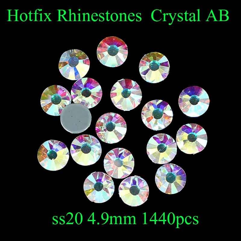 Crystal AB ss20 1440pcs/lot Diamond Hotfix Rhinestones With Glue Backing Iron on Perfect DIY Clothes Shoes Dresses Decoration насадка для кухонного комбайна bosch muz5nv1