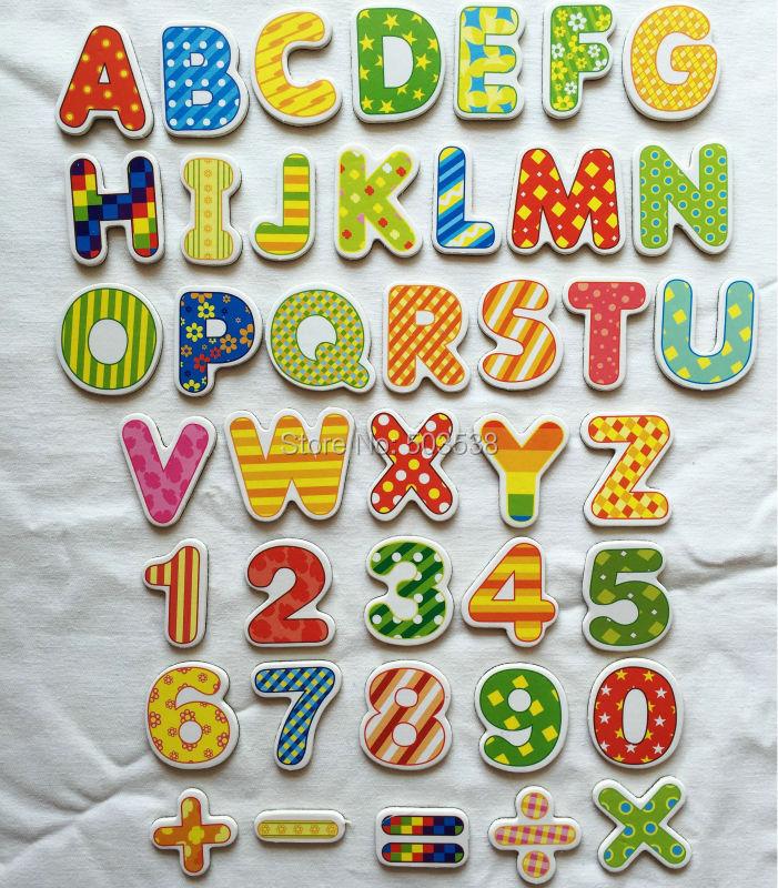 41 шт./партия. буквы. номера. математика мягкий магнит, белый доска магнит. детский сад поставки. научите свой собственный. математика игрушки....