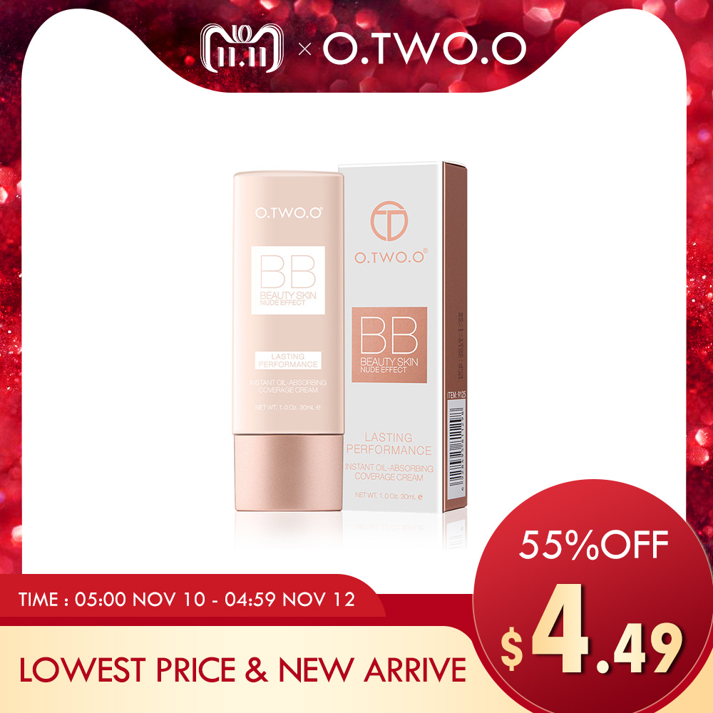 O.TWO.O Perfect Full Cover BB Cream 30ml Foundation Makeup Perfect BB&CC Cream Face Makeup Concealer Oil Control Moisturizing henlics organic plant essential oil cc cream face makeup liquid foundation concealer with moisturizer oil control function