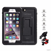 Tritina Bike Phone Mount For IPhone 6 6s Waterproof IP68 Shockproof Holder Case For Motorcycle Bicycle