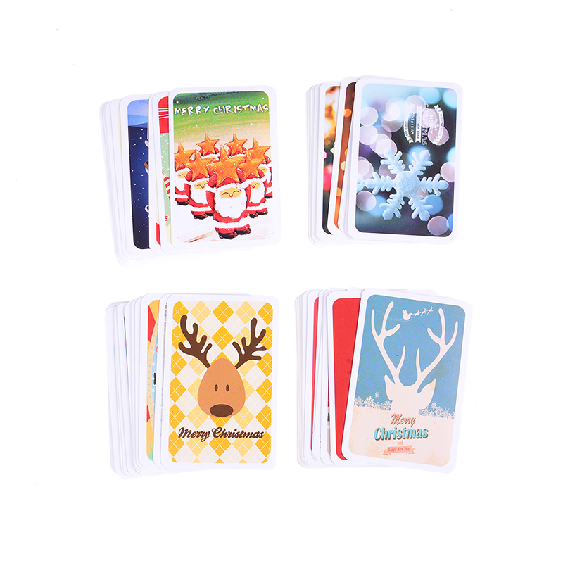 Cards & Invitations 28pcs/pack 3 Styles Valentines Day Christmas Is Coming Postcard Birthday Gift Message Cards Mini Card New Year Greeting Card Up-To-Date Styling