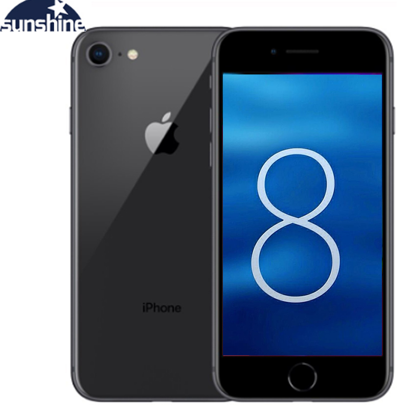 Original Apple iPhone 8 Fingerprint Cellphone 2G RAM 64GB/256GB ROM 4G LTE  4.7''12.0 MP Camera Hexa-core IOS Apple iPhone 8