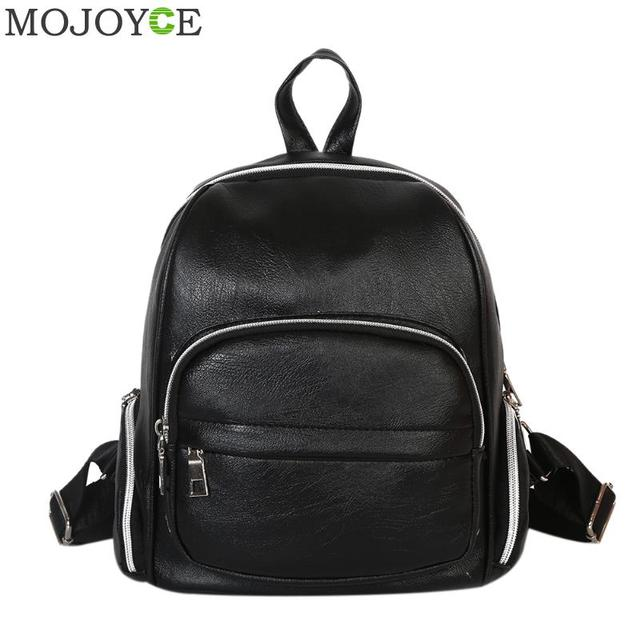 New Mini PU Leather Backpack Women Fashion Travel Black Backpacks Leisure  Student Schoolbag Backpacks Bookbag Mochila 4c6773e6347f1