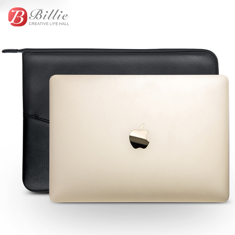 Image 4 - Laptop Sleeve Pouch Case Bag For New Macbook Pro 13 inch Case Genuine Leather For macbook 13 A1706/A1708 Notebook Laptop Cover-in Laptop Bags & Cases from Computer & Office