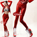 Hot! New Fashion Leggings Women Pants Hip Hop dance Trousers Elastic Waist Stretchy Skinny PU Faux Leather Look Panels Leggings