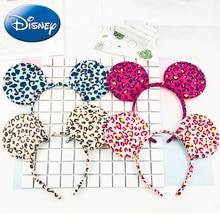 Disney Minnie уши Микки аксессуары для волос украшение для волос, для девочки Девушки вечерние бант на голову Мультфильм Плюшевая кавайная игрушка ролевые игры подарок