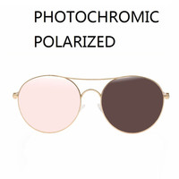 a23c70592 Vazrobe Photochromic Polarized Sunglasses Women Men Round Sun Glasses For  Man Chameleon Transition UV400 Transparent Pink