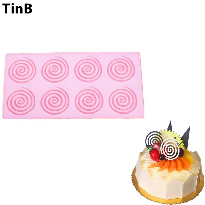 ÚJ DIY 3D kerek alakzat szilikon csokoládé penész Bakeware születésnapi torta Cookie díszítő eszközök csokoládé penész stencil muffin pan