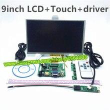 9 «дюймовый мини ПК Экран дисплея матрица ЖК-дисплей мониторов происходит контроллер AT090TN10 12 ЖК-дисплей s с сенсорным экраном Экран для raspberry pi 3