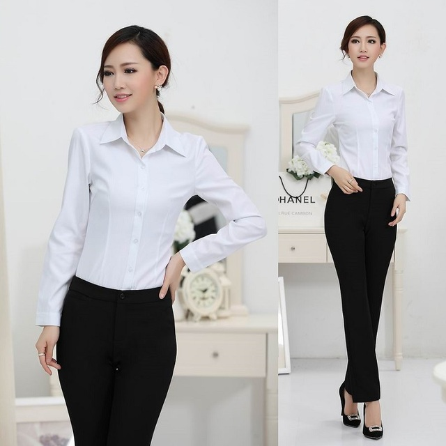 New 2018 spring autumn ladies office uniform designs women for Office uniform design 2014