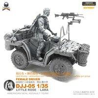 DIY 1/35 Female Navy Seal Terrain Vehicle with Female Driving Suit DJJ 05