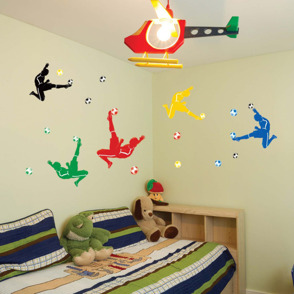 Buy football wall sticker soccer wall for Sports decals for kids rooms