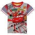 Meninos camiseta verão Crianças Vestuário Nova Crianças Usam Meninos Camisetas Impresso Carros Meninos Roupas de Manga Curta Camisas C5060
