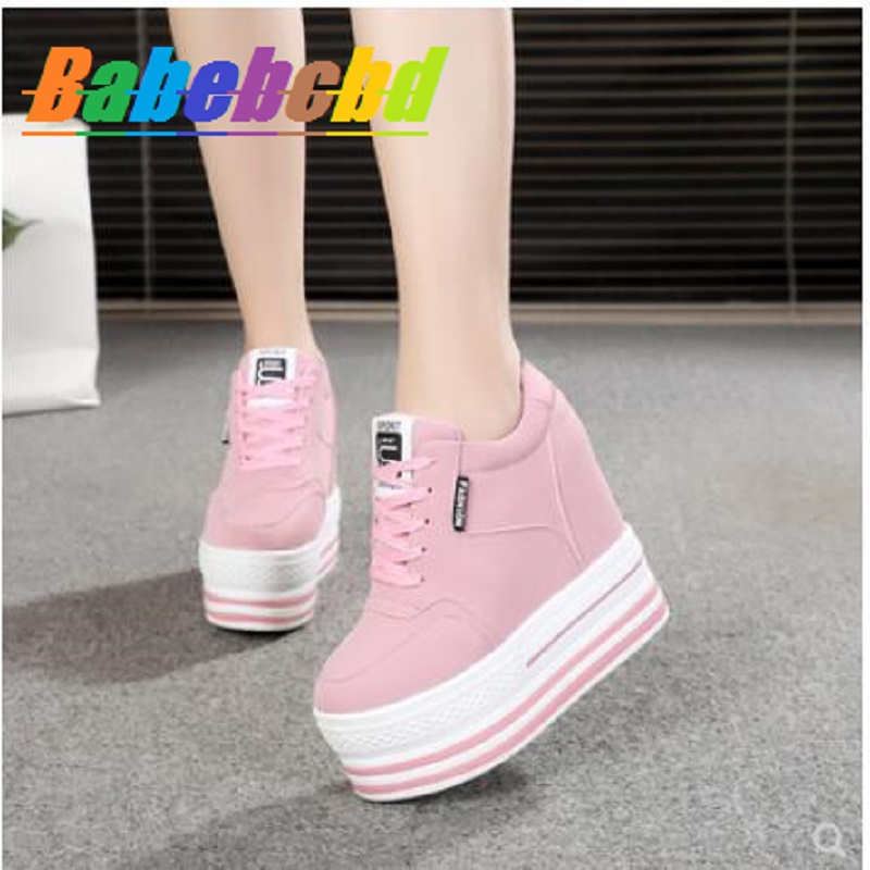 Bai Tan Nei Heightening Women's Shoes Spring And Summer 2019 Small White Shoes With Shallow Mouth, Thick Bottom, Air Permeabilit