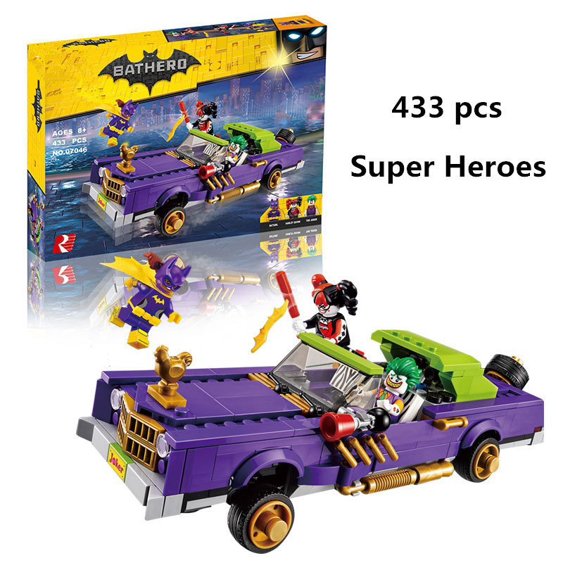 433pcs Diy Genuine legoingly Batman Serie The Jokers Lowridering Set Blocks Compatible W ...