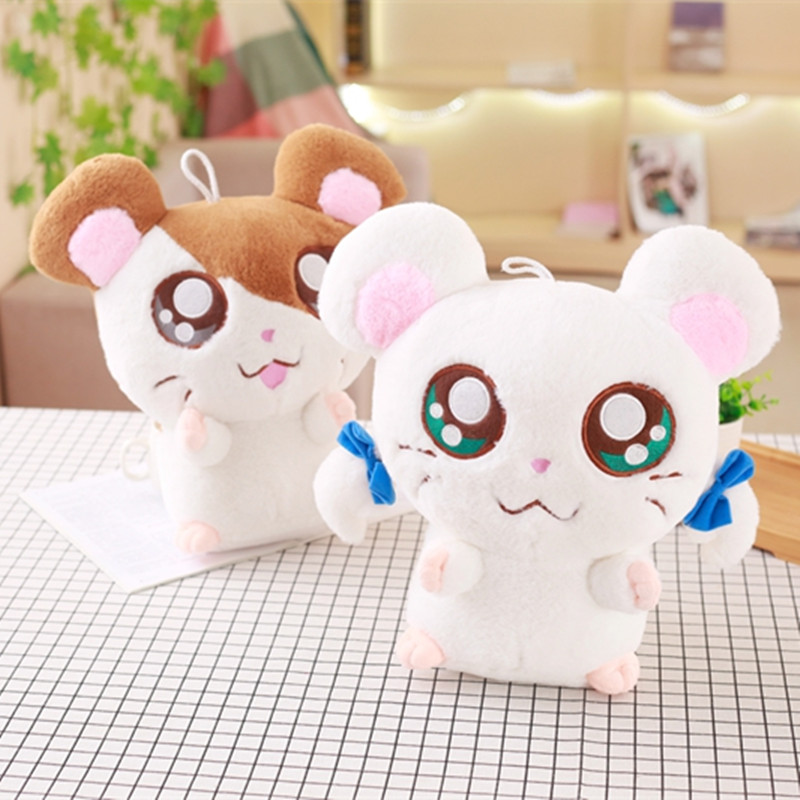 20cm Cute Hamster Mouse Plush Toy Stuffed Soft Animal Hamtaro Doll Lovely Kids Baby Toy Kawaii Birthday Gift for Children cute hamster plush backpack cartoon stuffed plush hamster toy girls school bag multifunction kids children toy birthday gift