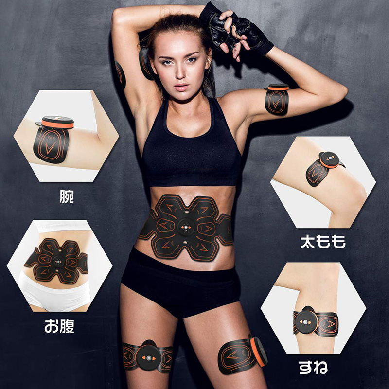 Muscle Stimulator Abdominal Musculaire Electrostimulation Electro ABS EMS Home Gym Belly Arm Leg Massage USB Charged