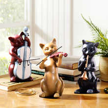 Creative European Style Living Room Tv Cabinet Decoration Home Decoration Cabinet Bookcase Bedroom Furnishings Cat Resin Crafts